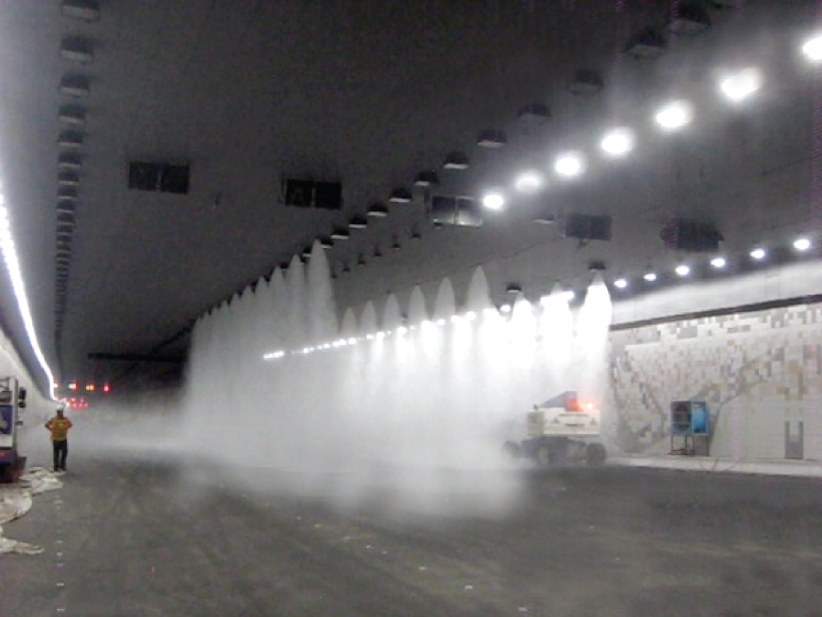 Water Mist System Discharge